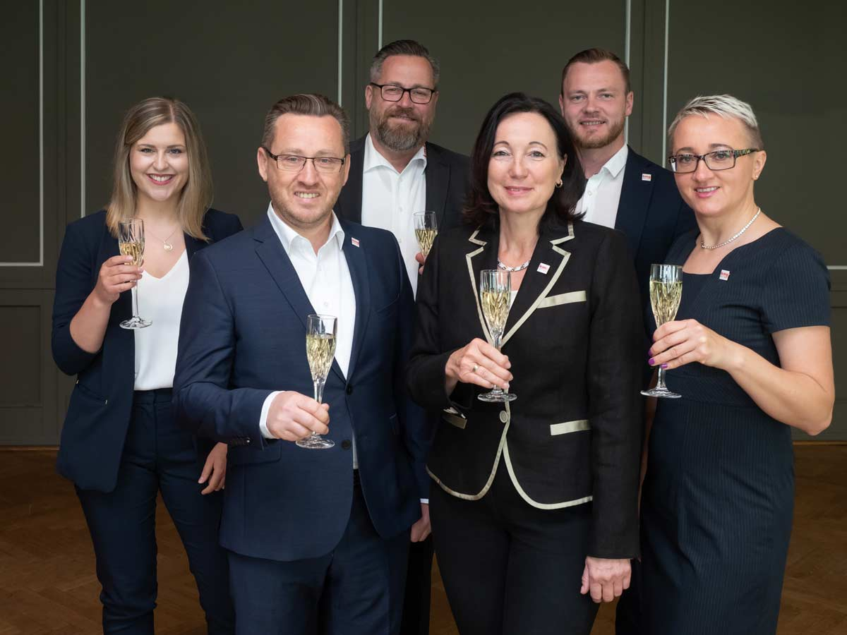 Das Team des Einkaufsverbandes fü´r Küchenstudios KMG
